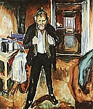 Edvard Munch : Self Portrait in Distress 1919 : $375