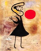 Joan Miro : Woman in the Sun 2 : $405