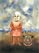 Frida Kahlo : Girl With Death Mask : $389