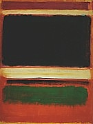 Mark Rothko : No.3/13 Magenta Black Green On Orange : $405
