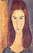 Amedeo Modigliani : Portrait of Jeanne Hebuterne : $365