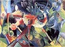 Franz Marc : Deer in a Flower Garden : $369