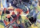 Franz Marc : Deer in a Flower Garden : $369