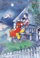 Marc Chagall : The Lovers : $389