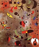 Joan Miro : Constellation Awakening at Dawn 1941 : $369
