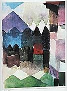 Paul Klee : Fohn Wind  in Franz Marc's Garden  1915 : $345