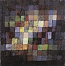 Paul Klee : Ancient Sound, Abstract on Black  1925 : $375