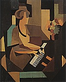 Magritte : Georgette at the Piano 1923 : $345