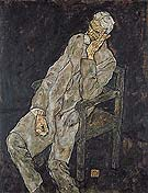 Egon Schiele : Portrait of Johann Harms 1916 : $345