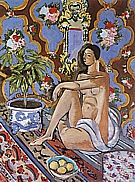 Matisse : Decorative Figure on Ornamental Background 1925 : $379