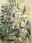 Georges Braque : Clarinet and Bottle of Rum on a Mantlepiece 1882 : $339