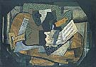 Georges Braque : Still Life with Musical Instruments 1918 : $345