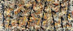Jackson Pollock : Blue Poles : $415
