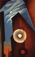 Georgia O'Keeffe : New York Street with Moon 1925 : $365