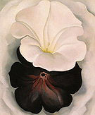Georgia O'Keeffe : Black Petunia and White Morning Glory II 1926 : $369