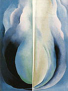 Georgia O'Keeffe : Abtraction Blue 1927 : $335