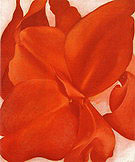 Georgia O'Keeffe : Red Cannas 1927 : $369