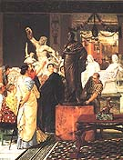 Lawrence Alma-Tadema : A Sculpture Gallery in Rome at the Time of Augustus, 1867  : $455
