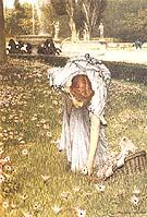 Lawrence Alma-Tadema : Spring in the Gardens of the villa Borghese 1877 : $399