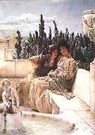 Lawrence Alma-Tadema : Whispsering Noom 1896 : $355
