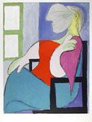 Pablo Picasso : Femme Assise Pres d`une Fenetre 1932 : $345