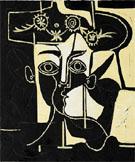 Pablo Picasso : Femme au Chapeau Orne 1962 : $369
