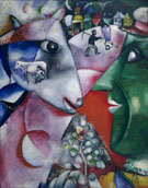Marc Chagall : I and the Village 1911 : $345