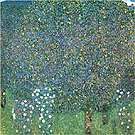 Gustav Klimt : Rosiers Sous les Arbres 1905 : $345