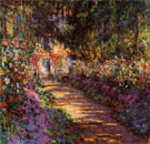 Claude Monet : Garden Path at Giverny : $425