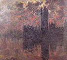 Claude Monet : Houses of Parliament Setting Sun 1900 : $389