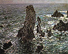 Claude Monet : The Pyramids at Port Coton 1886 : $389