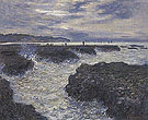 Claude Monet : The Rocks at Pourville Low Tide 1882 : $359