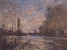 Claude Monet : The Small Arm of the Sine at Argenteuil 1875 : $389