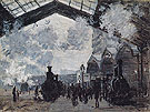 Claude Monet : Interior of the Gare Saint Lazare 1877 : $389