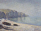 Claude Monet : Boats on the Beach at Pourville 1882 : $389