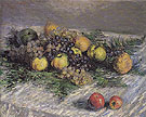 Claude Monet : Still Life with Pears and Grapes 1880 : $389