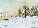 Claude Monet : Lavacourt under Snow 1881 : $389