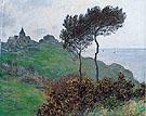 Claude Monet : The Church of Varengeville Cloudy Weather 1882 : $389