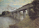 Claude Monet : The Railway Bridge at Argenteuil 1873 : $389