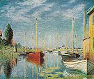 Claude Monet : Pleasure Boats at Argenteuil 1875 : $389