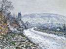 Claude Monet : Entrance to the Village of Vetheuil in Winter 1879 : $389