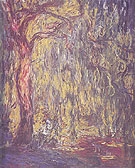 Claude Monet : Landscape Weeping Willows 1918 : $385