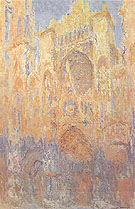 Claude Monet : Rouen Cathedral Sunset Effect 1892 : $385