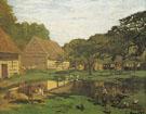 Claude Monet : Farm in Normandy 1863 : $399