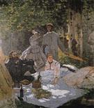 Claude Monet : Le Dejeuner sur Iherbe 1865 : $375