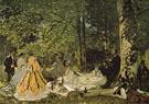 Claude Monet : Dejeuner sur Iherbe 1865 : $375