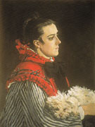 Claude Monet : Camille with a Small Dog 1866 : $385