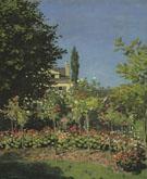 Claude Monet : Garden in Bloom at Sainte Adresse 1866 : $379