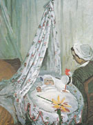 Claude Monet : The Cradle Camille with the Artists Son Jean 1867 : $385