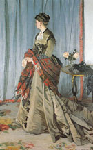 Claude Monet : Portrait of Mme Gaudibert 1868 : $389